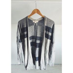 Love Stitch Wool Blend Draper Open Cardigan